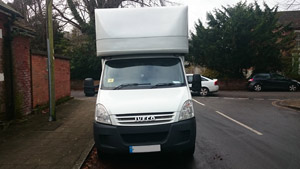 Sledges of Southampton Iveco long wheel base Luton van - front view