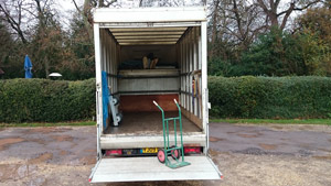 Sledges of Southampton Iveco long wheel base Luton van - rear view