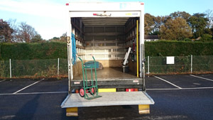 Sledges of Southampton Ford Transit long wheel base box van - rear view