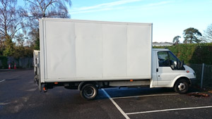 Sledges of Southampton Ford Transit long wheel base box van - Side view